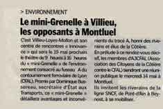 article du journal du Progrès du 5 mai 2008